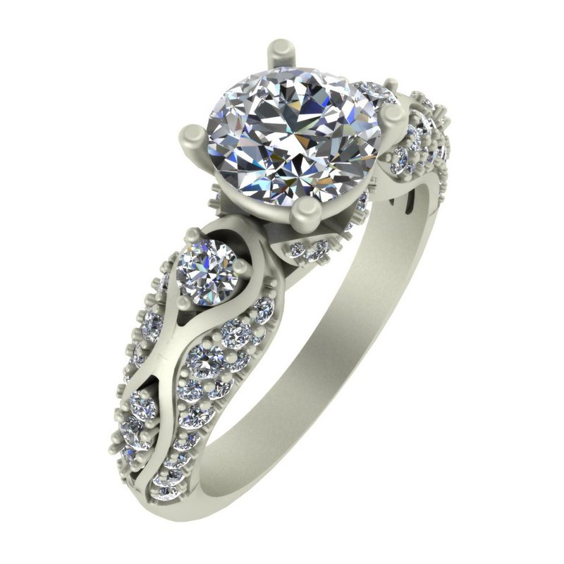 Isadora Vintage Diamond Engagement Ring - Setting Only