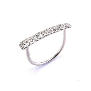 Pave Diamond Bar Ring