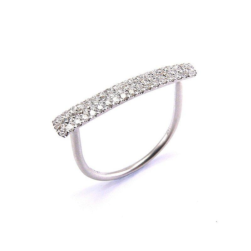 Meira T Pave Diamond Bar Ring