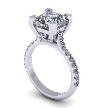 Princess Cut Engagement Ring - Custom Order