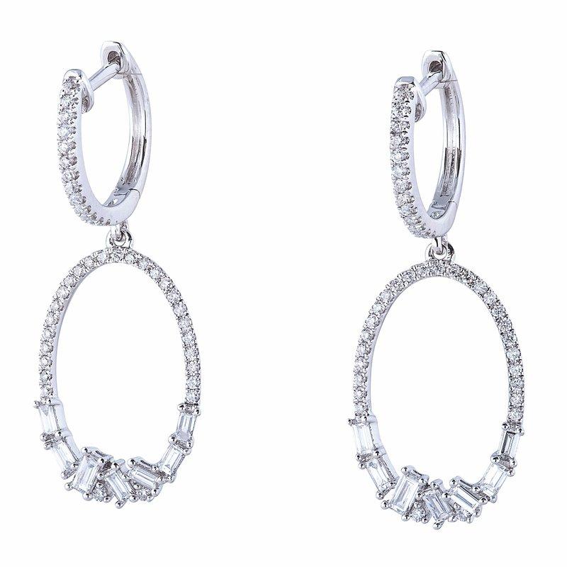Sophia by Design Diamond Dangle Hoops