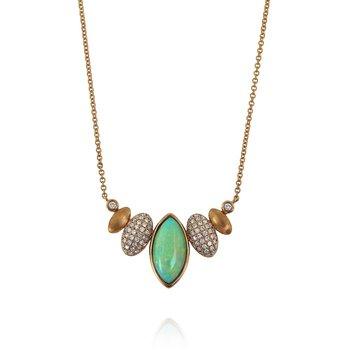 Opal & Diamond Necklace 18KR