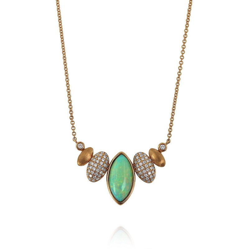 Yael Designs Opal & Diamond Necklace 18KR