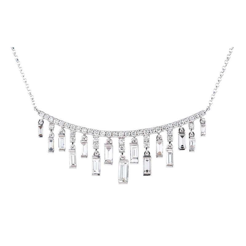 Sophia by Design Cascading Bar Necklace 18KW