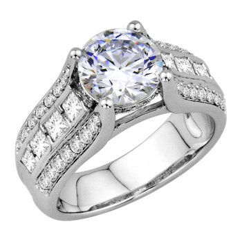 Modern Engagement Ring Setting Only