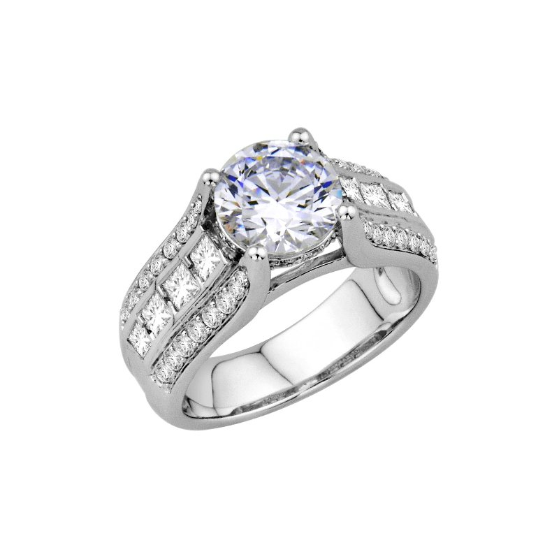 Isadora Modern Engagement Ring Setting Only