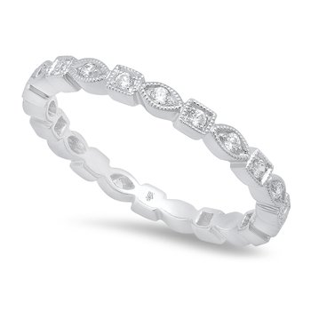 Marquise & Square Eternity Band 18KW