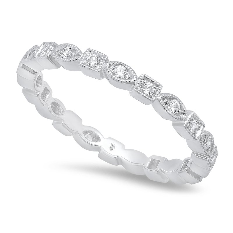 Beverley K Marquise & Square Eternity Band 18KW