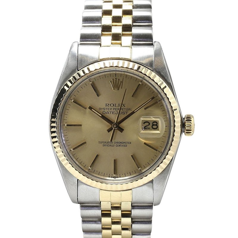 Rolex Pre-Owned Watches Datejust Steel & 18KY 16013