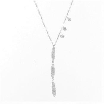 Triple Pave Drop Necklace