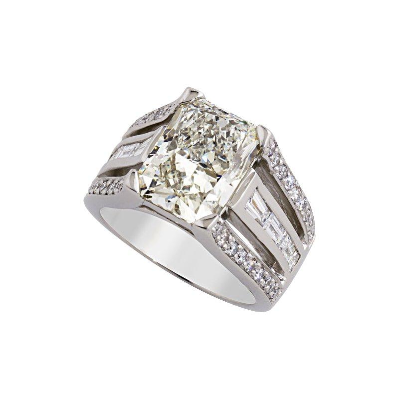 London Gold Designs Modern Diamond Engagement Ring - Custom Order