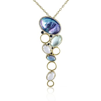 Cascading Gemstone Necklace