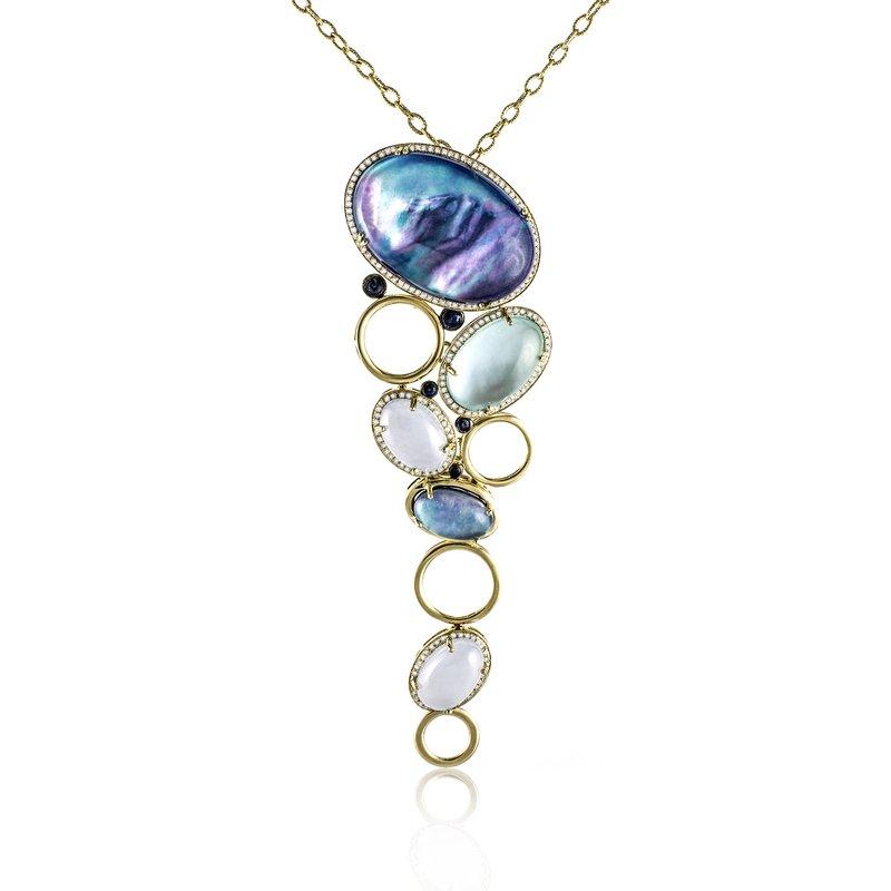 Sophia by Design Cascading Gemstone Necklace