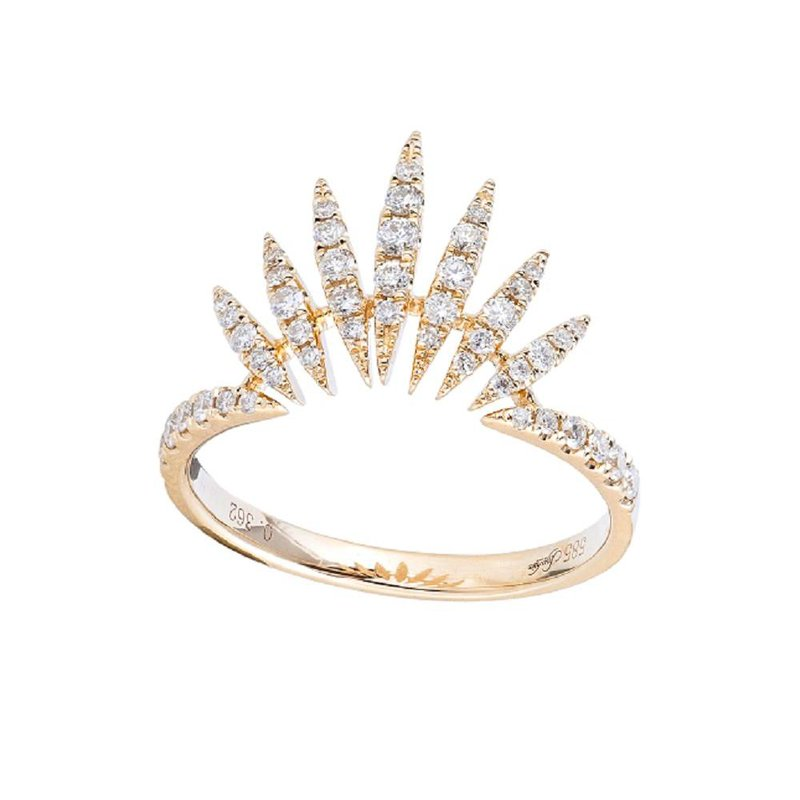 Sophia by Design Curved Diamond Ring