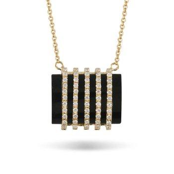 Gatsby Onyx & Diamond Necklace 18KY