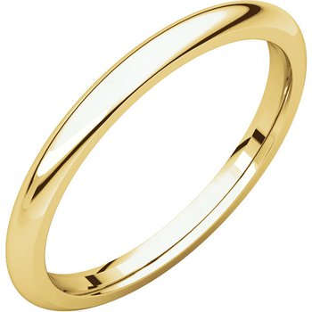 14K Yellow 2mm Comfort Fit Band