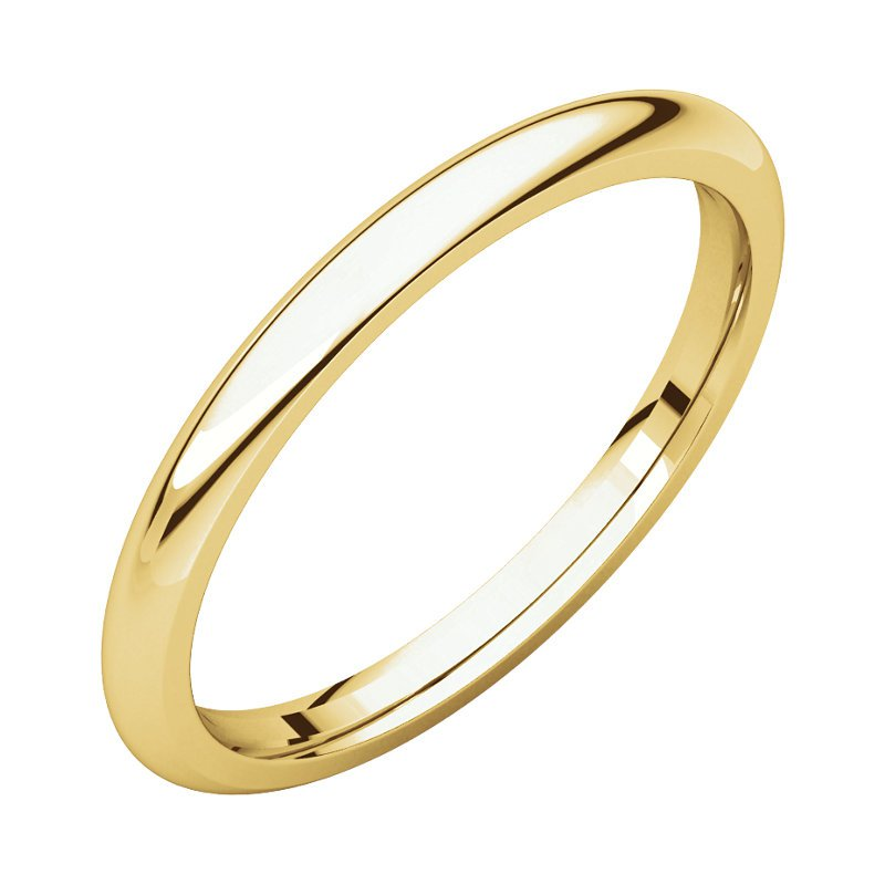 Gallery Designs 14K Yellow 2mm Comfort Fit Band