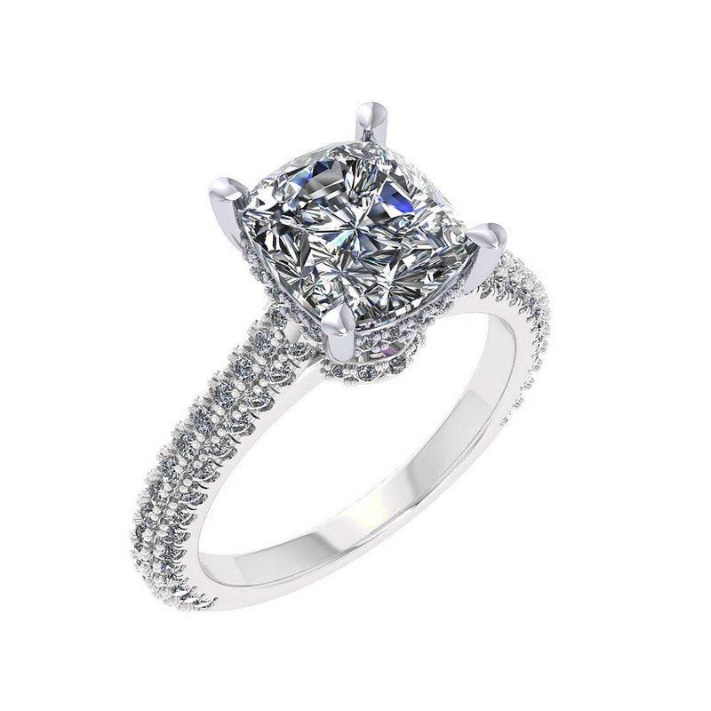 Isadora Pave Cathedral Engagement Ring - Setting Only