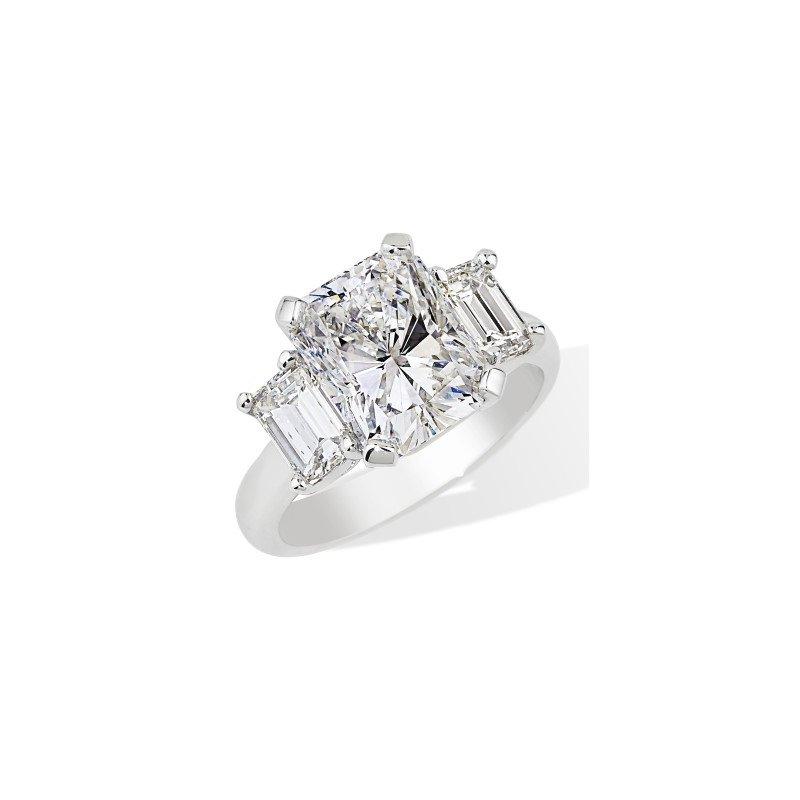 London Gold Designs Three Stone Engagement Ring - Custom Order