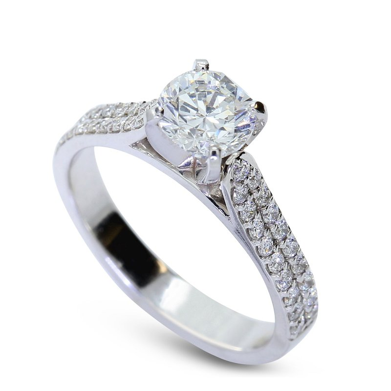 London Gold Designs Cathedral Diamond Engagement Ring