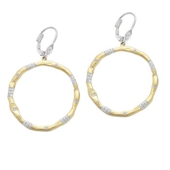 Circle Diamond Earrings 14KY