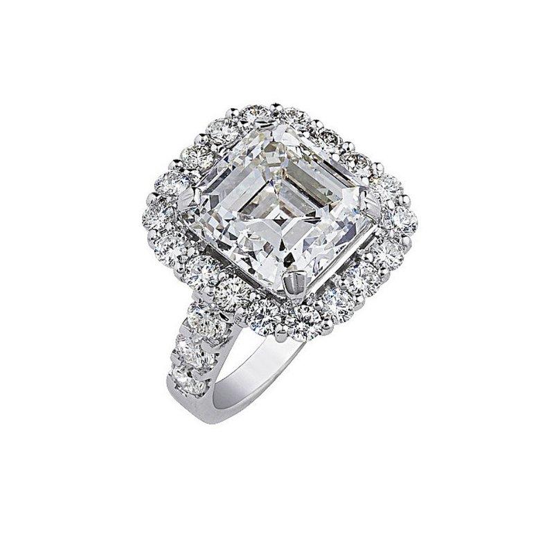 London Gold Designs Halo Engagement Ring - Custom Order