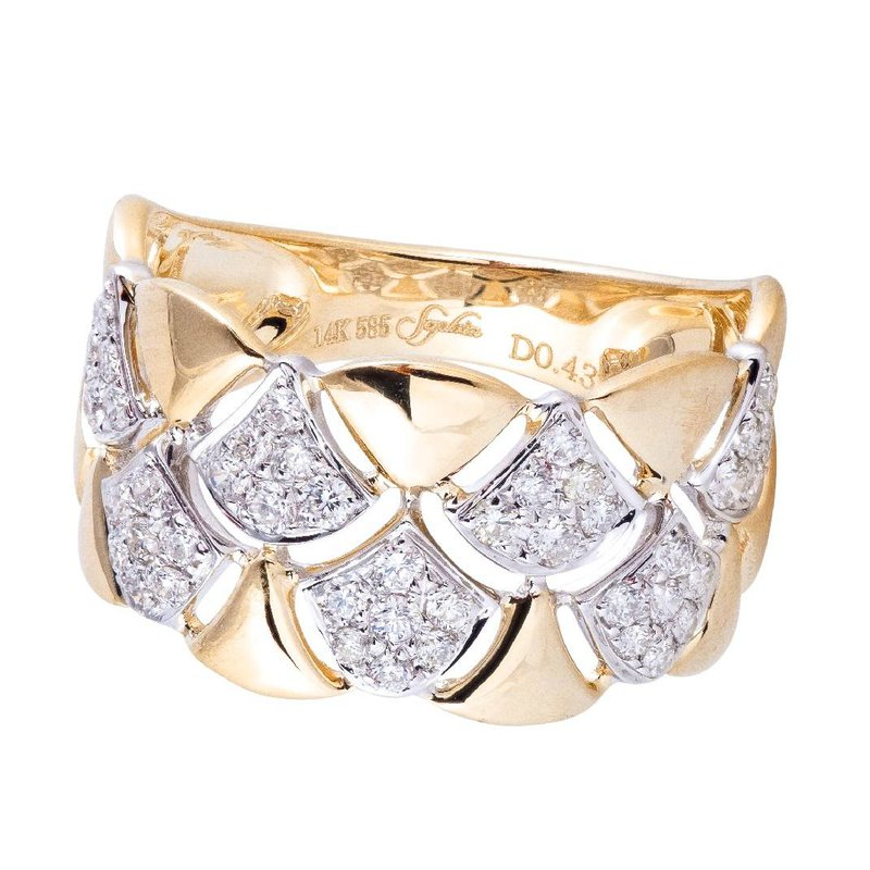 Sophia by Design Pave Diamond Ring 14KY
