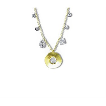 Disc Charm Necklace 14KY