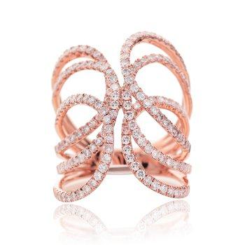 Openwork Swirl Ring 18KR