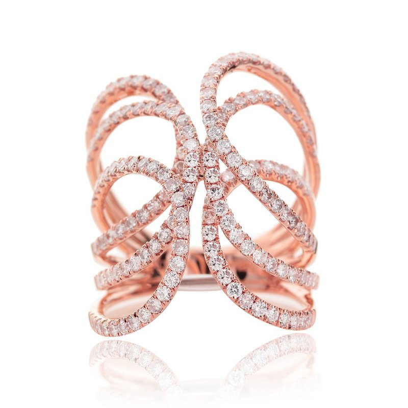 London Gold Designs Openwork Swirl Ring 18KR