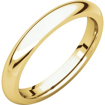 14K Yellow 3mm Comfort Fit Band