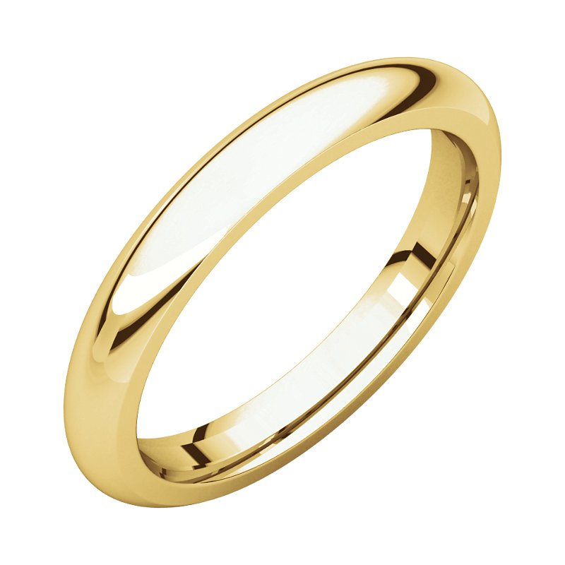 Gallery Designs 14K Yellow 3mm Comfort Fit Band