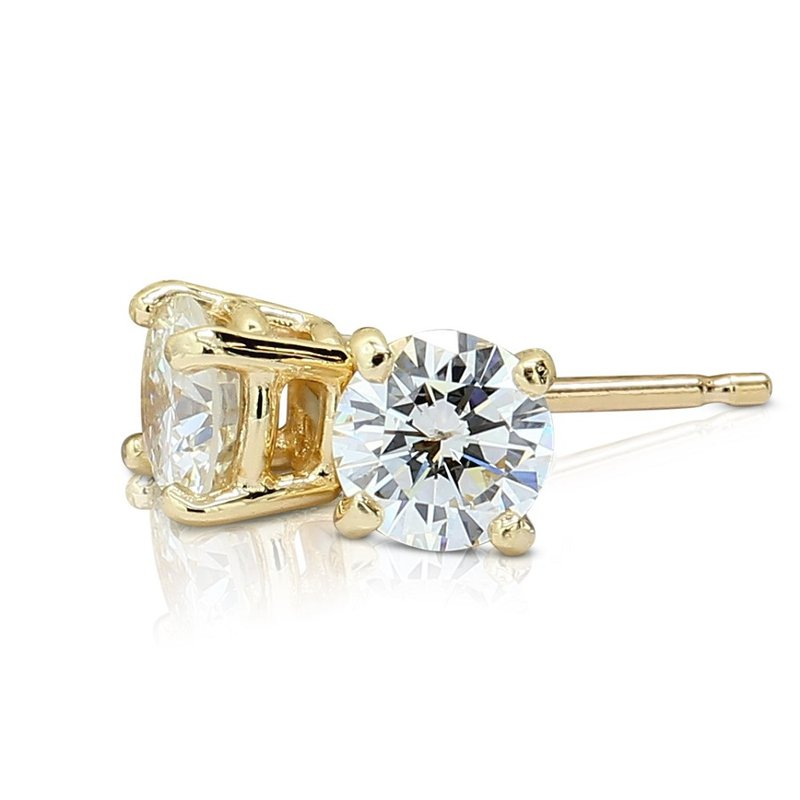 London Gold Designs .86cttw Round Diamond Studs 14KY