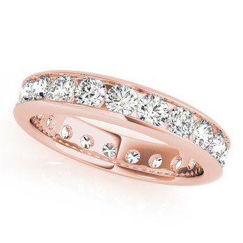 Round Brilliant Eternity Channel Diamond Band