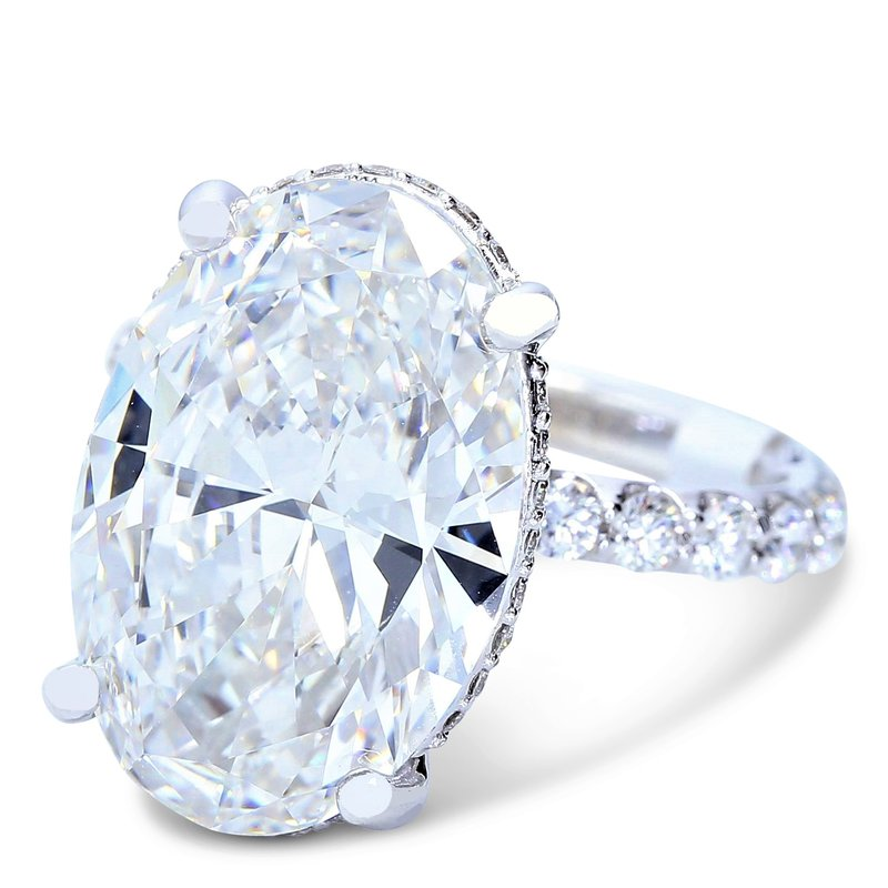 10.37ct Oval Halo Engagement Ring