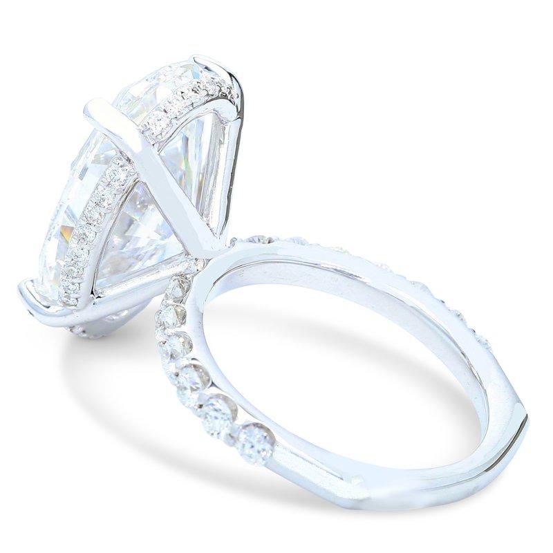 Ascencio Designs 10.37ct Oval Halo Engagement Ring