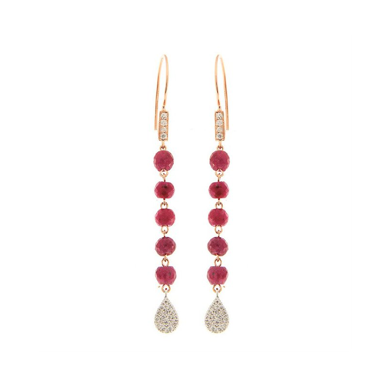 Meira T Ruby & Diamond Dangles