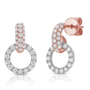 Interlocking Pave Earrings 18K