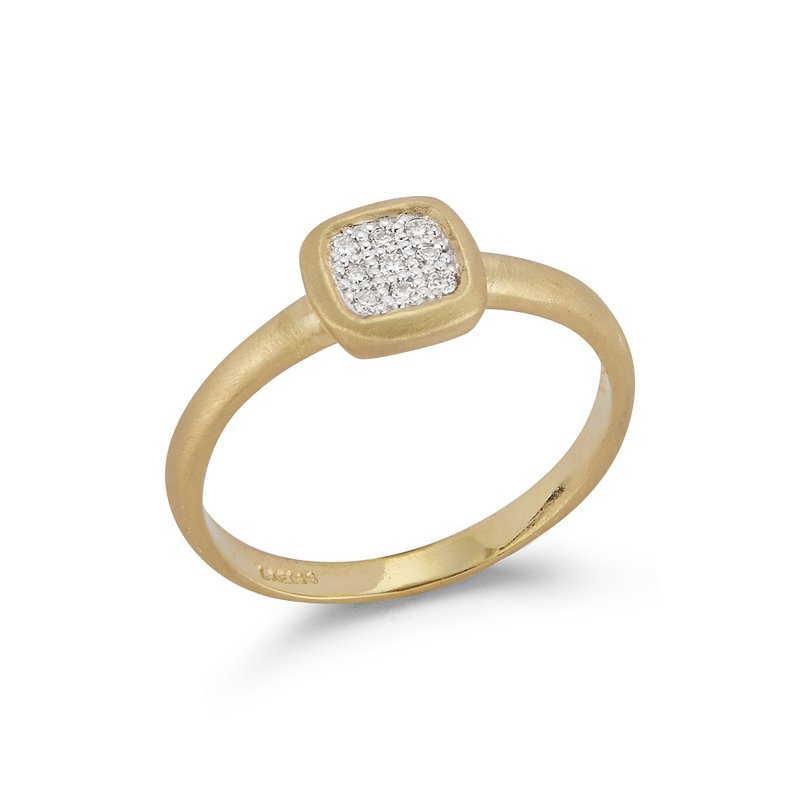 I. Reiss Square Diamond Ring 14KY