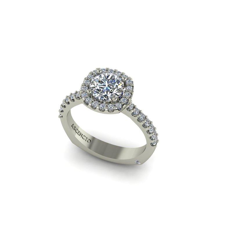 Ascencio Designs Halo Engagement Ring Setting