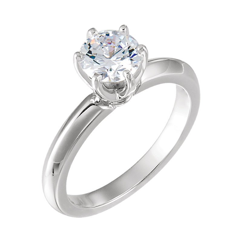 Gallery Designs 14K White 6-Prong Solitaire Setting Only