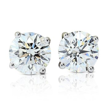 1.35cttw GIA Round Diamond Studs