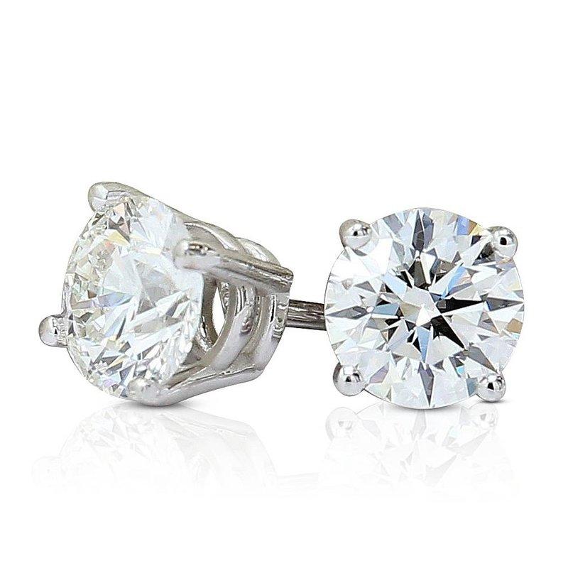 London Gold Designs 1.21cttw GIA Round Diamond Studs