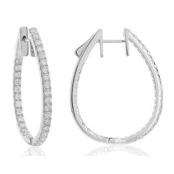 Diamond Inside-Out Hoops 18KW
