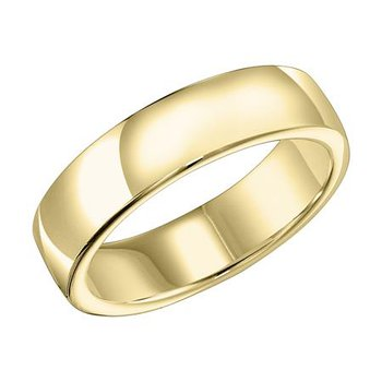 18K 8MM Yellow Gold Ergo Fit Engraved Wedding Band