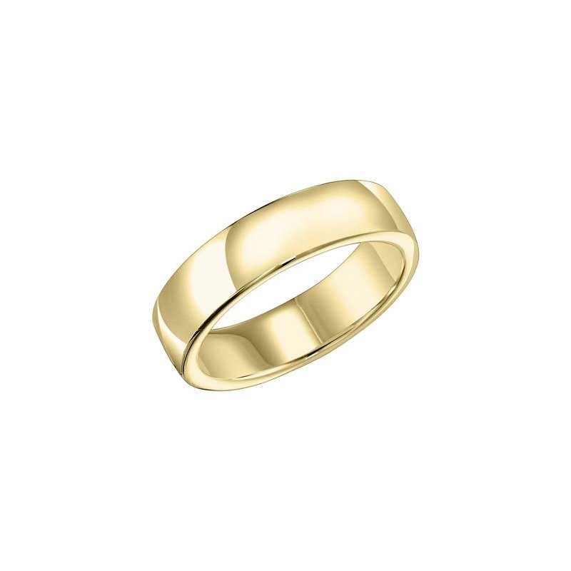 Frederick Goldman 18K 8MM Yellow Gold Ergo Fit Engraved Wedding Band