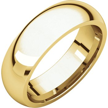 14K Yellow 6mm Comfort Fit Band
