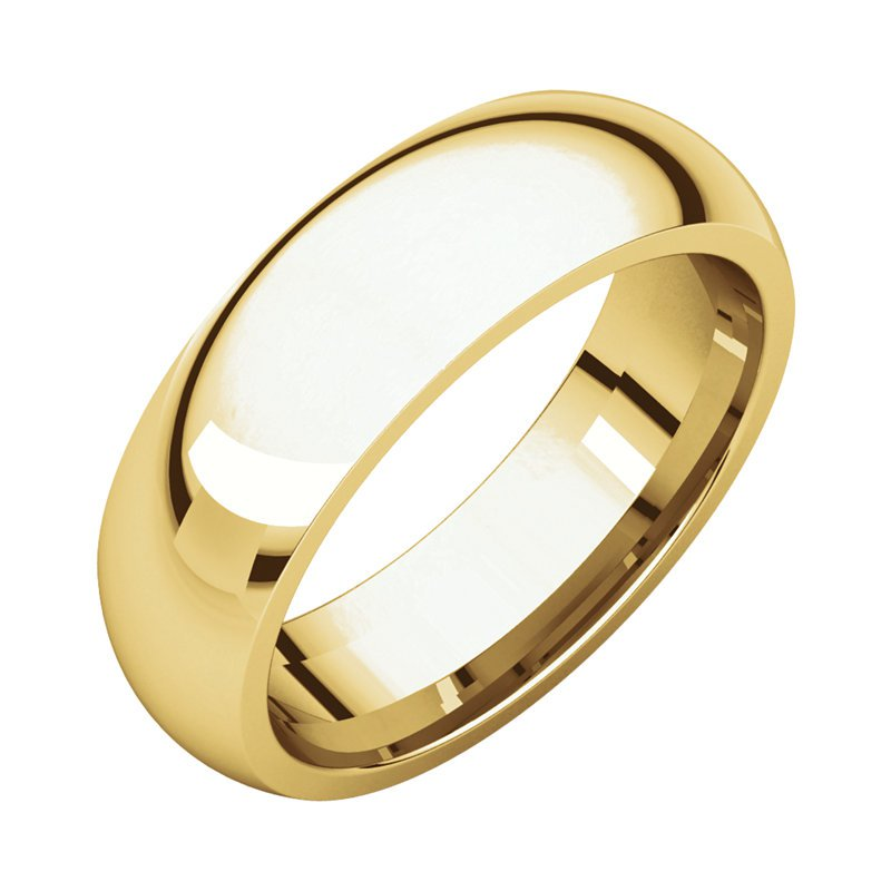 Gallery Designs 14K Yellow 6mm Comfort Fit Band