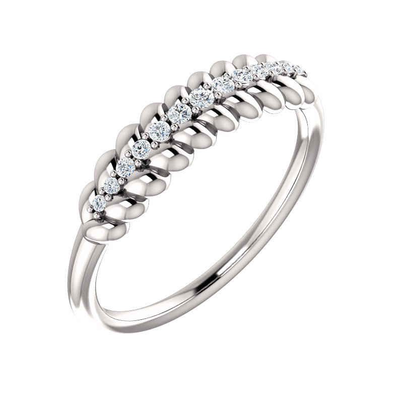 Gallery Designs 14k Rose Diamond Rope Ring