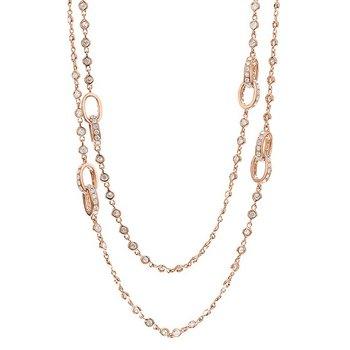 """32"""" Diamond Station Necklace 18KR"""